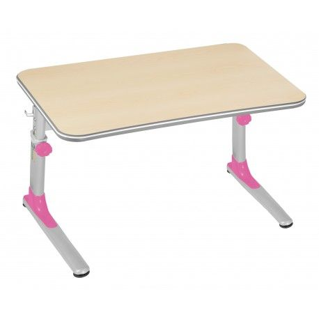 Biurko ergonomiczne rosnące razem z dzieckiem różowe Junior Mayer - ergopoint.com.pl